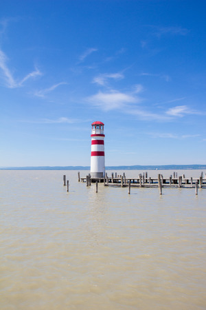 Lighthouse in Podersdorf At Lake Neusiedl in Austria Stock Photo
