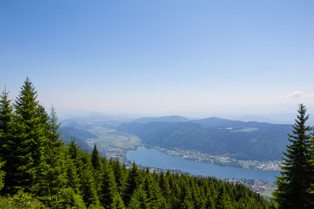 View To Lake Ossiach From Mt. Gerlitzen