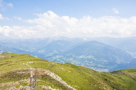 View From Top Of Mt. Mirnock To Mt. Priedröf & Nocky Mountains Stock Photo - 59721201