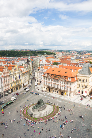 View To The City Of Prague From Old Town Hall Tower In Czech Republic Stock Photo - 60831209