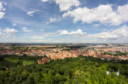 Wonderful View To The City Of Prague From Petrin Observation Tower In Czech Republic Stock Photo - 60811135
