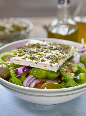 Classic Greek Salad Stock Photo
