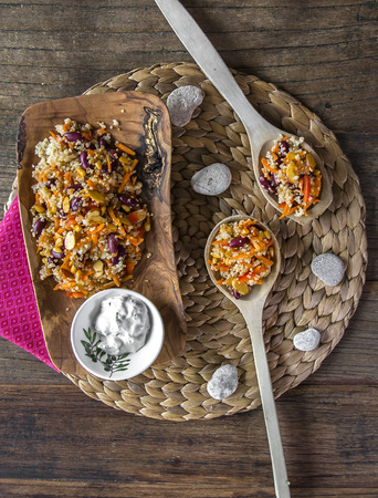 plato del buen comer: Plato vegetariano saludable