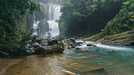 Nauyaca Waterfalls from below in Costa Rica