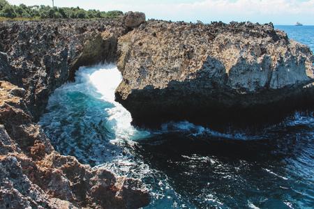 Nusa Dua Blow Hole, Bali Imagens
