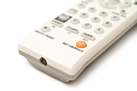 DVD and TV remote control isolated on white Stock Photo