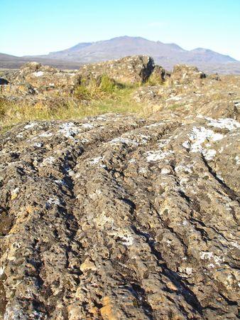 Iceland - volcanic lava extreme terrain Stock Photo - 4572381