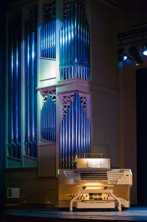 Organ - authentic music instrument (without organist) photo