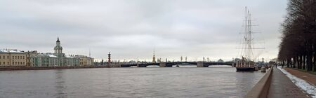 Panoramic picture of Saint petersburg, former capital of Russian Empire Stock Photo