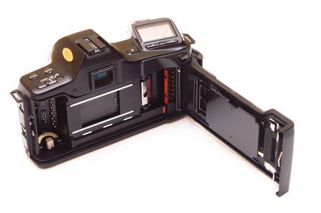 Retro SLR photo camera isolated on white. Stock Photo - 6041605