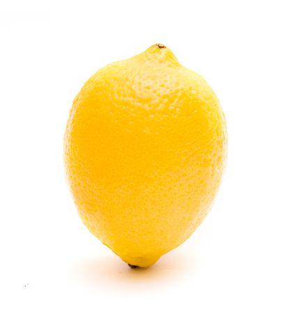 Ripe juicy lemon isolated on white photo