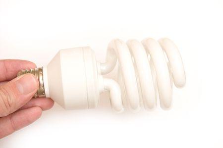 Energy saving lamp isolated on white background Stock Photo - 6272350
