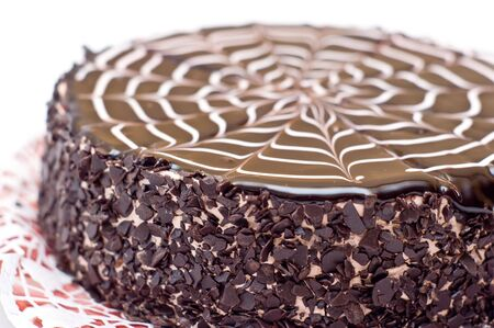 torte: Tasty chocolate cake on a plate