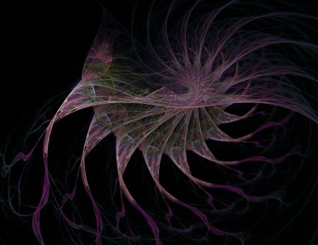 black smoke: Abstract fantasy fractal flame background