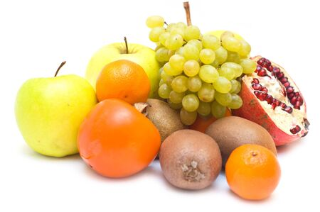 Small collection of fruits isolated