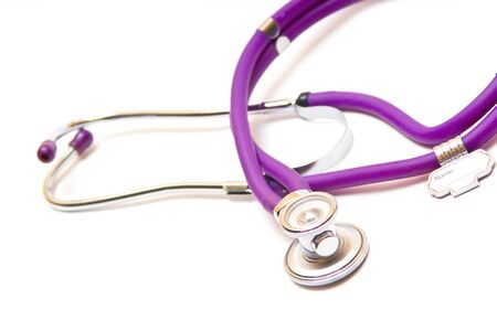 stetoscope isolated against white packground Stock Photo