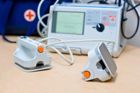Heart Defibrillator - emergency high technology equipment Stock Photo - 7930165