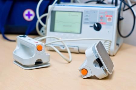 cardioverter: Heart Defibrillator - emergency high technology equipment