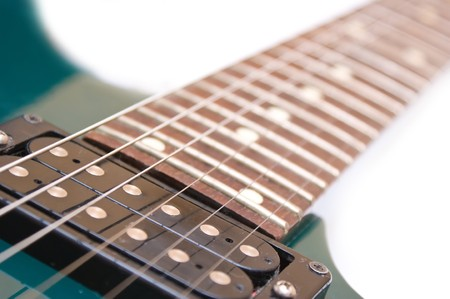 Modern electric guitar close-up shot