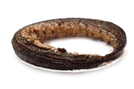 Eel smoked fish isolated on white Stock Photo - 7930259