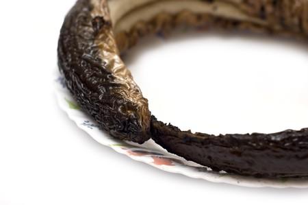 Eel smoked fish isolated on white Stock Photo - 7930268