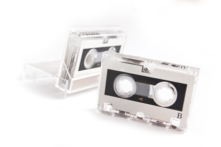 Micro audio cassette isolated on white background Stock Photo - 8409576