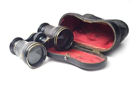 Vintage binoculars isolated on white background Stock Photo - 8410283