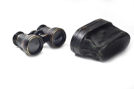 Vintage binoculars isolated on white background Stock Photo - 8409648