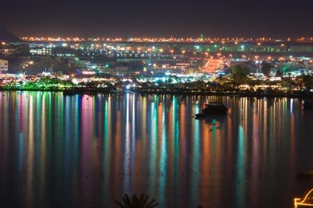 Night view of Naama Bay, Sharm al Sheikh, Egypt