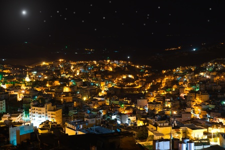 Christmas star above Bethlehem, Palestine, Israel photo