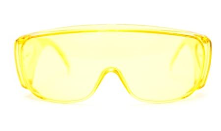 protective eyeglasses on white background photo