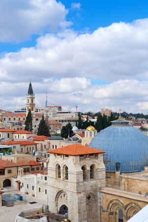 sepulchre: Jerusalem, view to Church Of The Holy Sepulchre Stock Photo