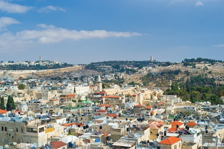 Jerusalem, aerial view Stock Photo