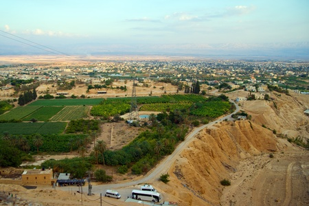 Jericho - aerial view from Mount of Temptation.