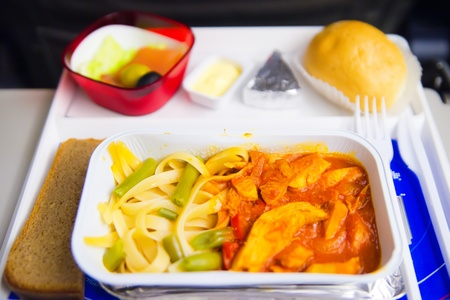 Airplane lunch photo