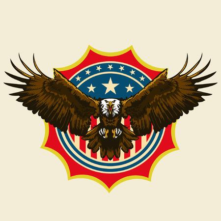 미국의 대머리 Egle 일러스트