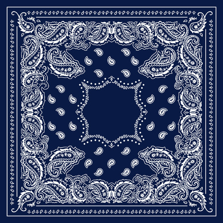Blaue Bandana Illustration