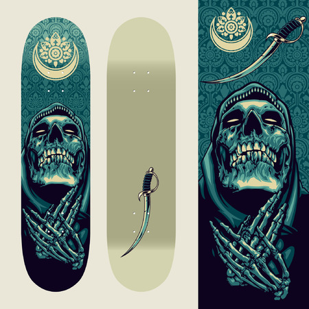Skull Praying on Skatedeck Template