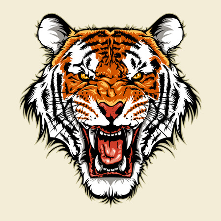 mascots: Angry Tiger Head