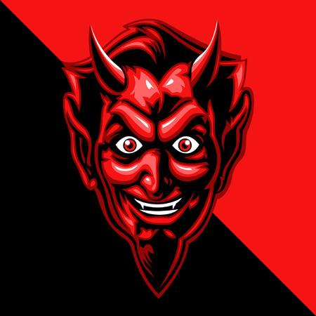 duivel hoofd Stock Illustratie