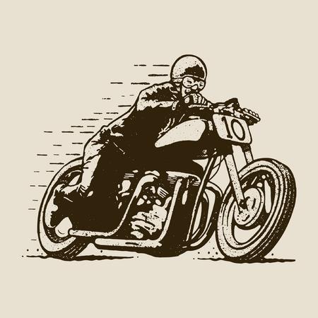 motor race: vintage motorsport Stock Illustratie
