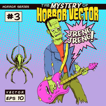 Horror monster playing guitar Vector