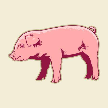schattig klein varken Stock Illustratie