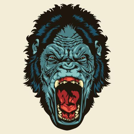Angry Gorilla Head Banco de Imagens - 37569934
