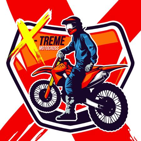 Motor Cross Stock Illustratie