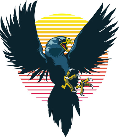 shaved head: Flying Eagle Mascot