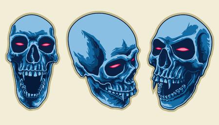 Scary Skull Set Banco de Imagens - 37634679
