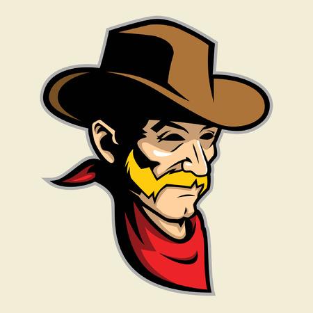 country life: Cowboy Head Mascot