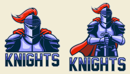 shields: knights Illustration