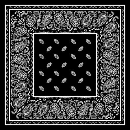 Schwarz Bandana Standard-Bild - 44099344